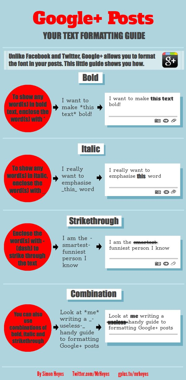 Google-plus-formatting-INFOGRAPHIC