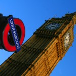 big ben and underground sign