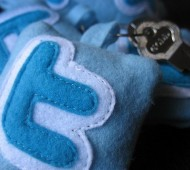 twitter cushion with key