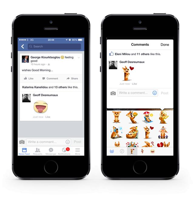 Stickers Are Coming To Your Facebook Timeline