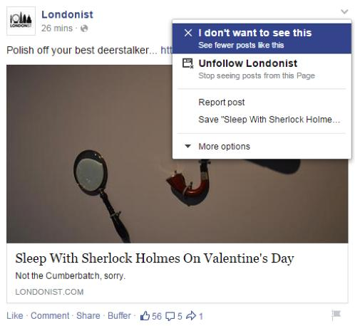 wersm curate the perfect newsfeed I don't want to see this