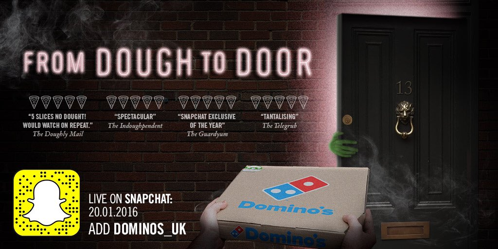 Domino's joins Snapchat with an exclusive campaign
