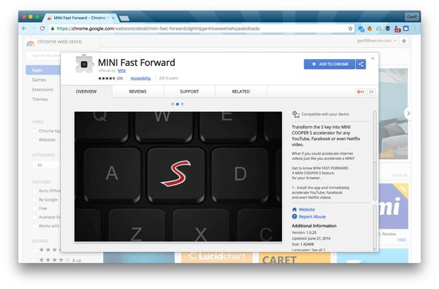 wersm-mini-s-fast-forward-chrome-extension