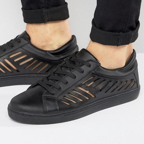 wersm-ASOS-Trainers-In-Black-With-Cut-Out-Detail-
