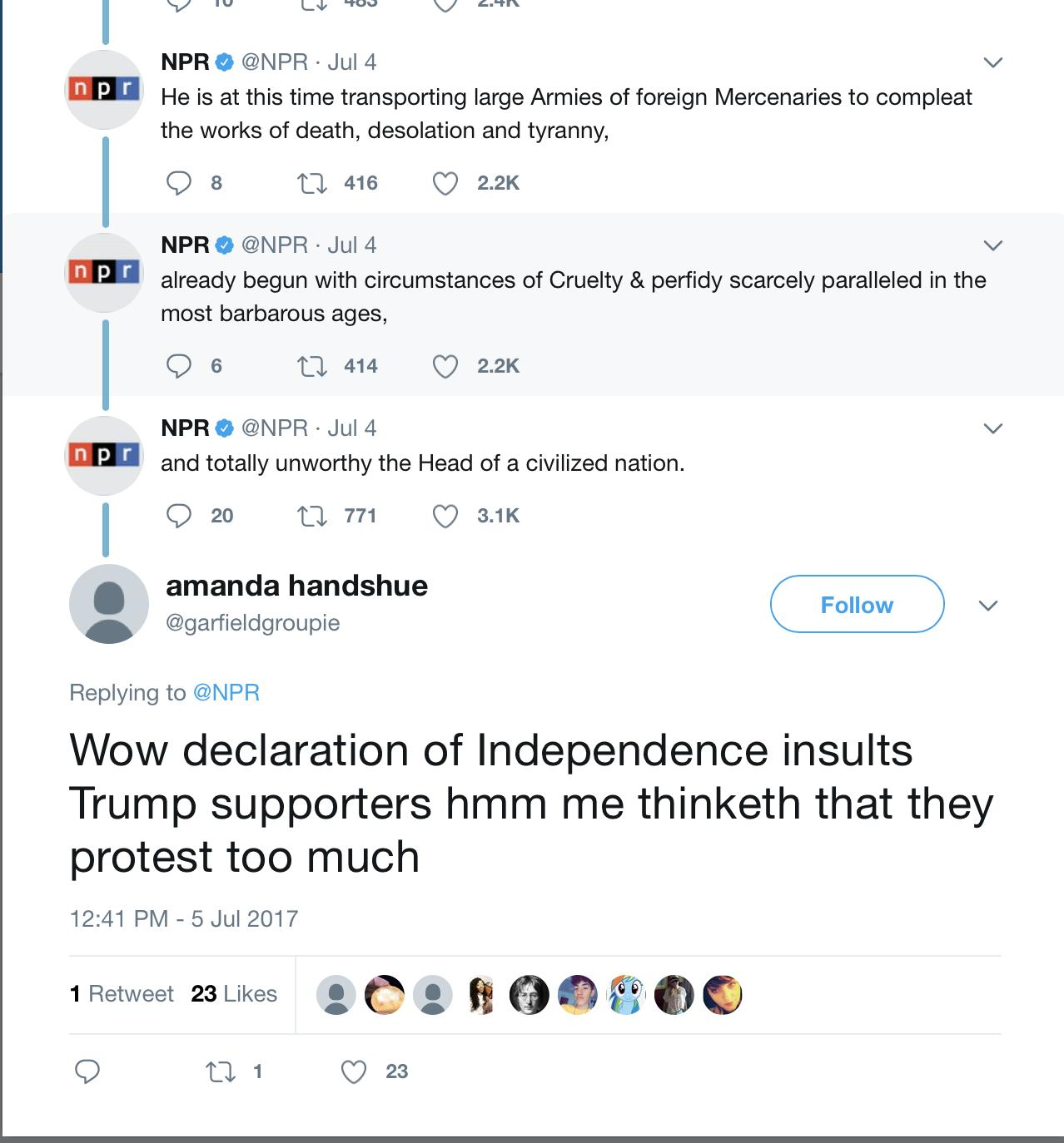wersm npr declaration of independence twitter 2