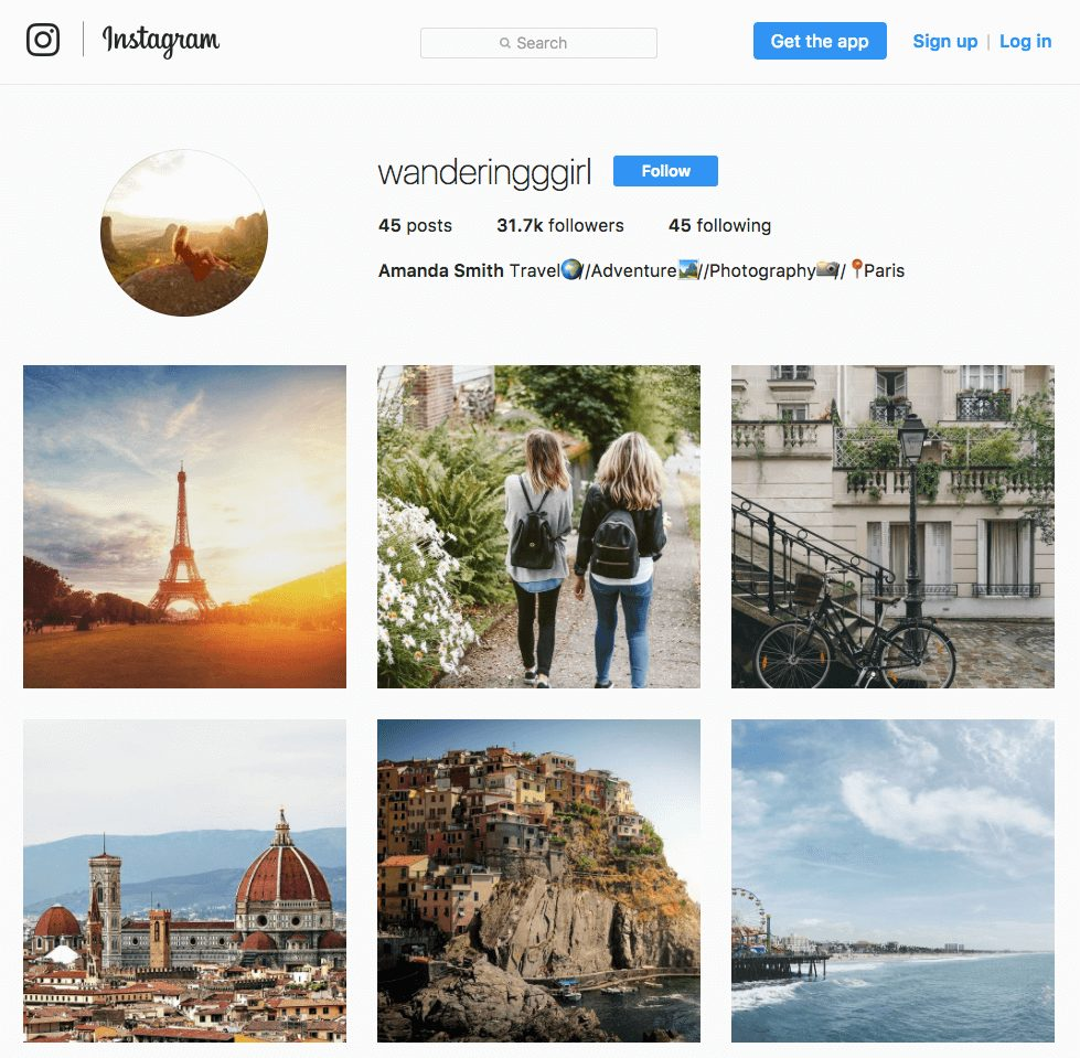 wersm-Fake-Instagram-Influencer-Account-Wanderingggirl