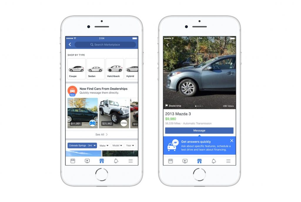 wersm facebook marketplace car dealer partnerships screens
