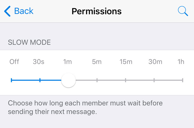wersm telegram slow mode intervals