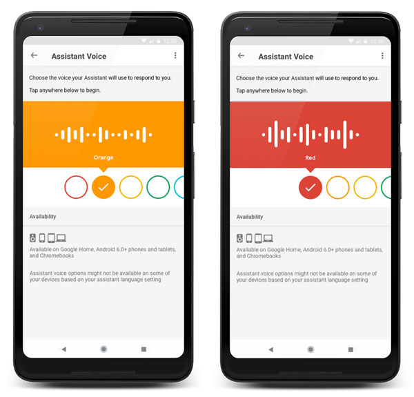 google assistant new voices