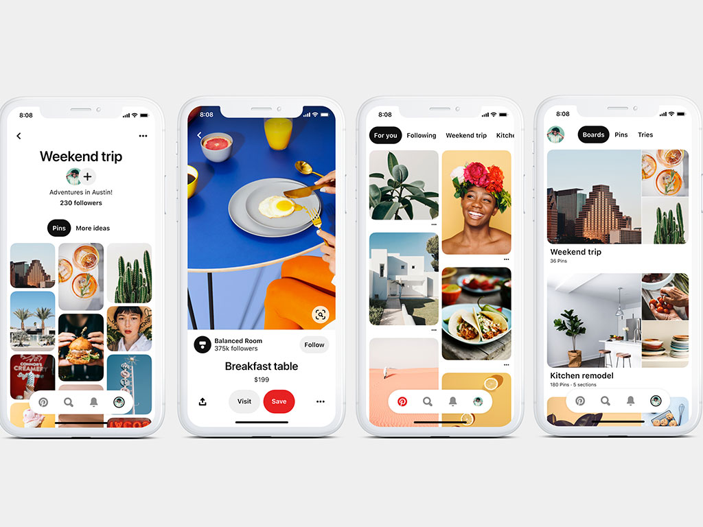 Pinterest Rolls Out A New Look On Ios And Android