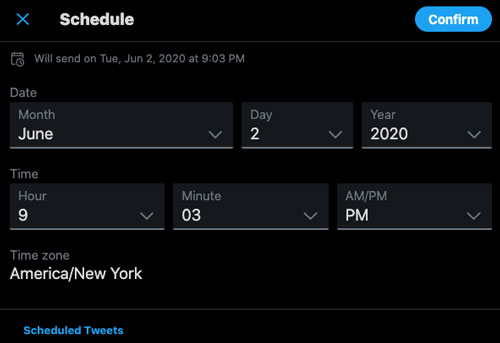 You can now save tweets as drafts and schedule them for later