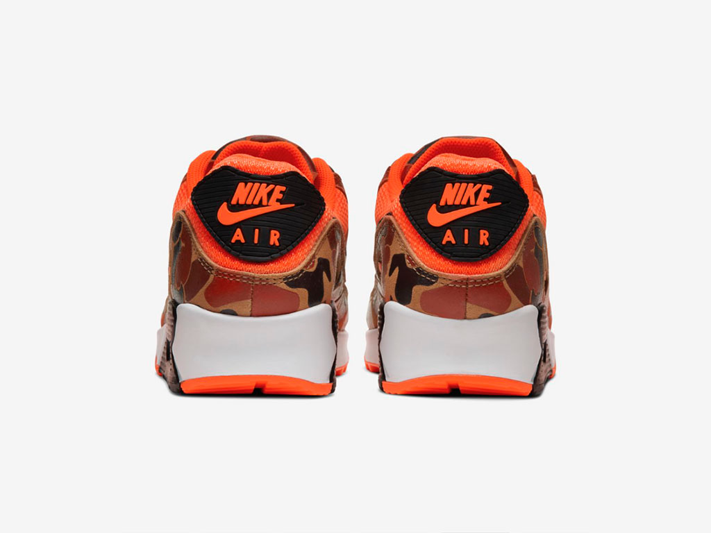 nike airmax 90 orange duck camo