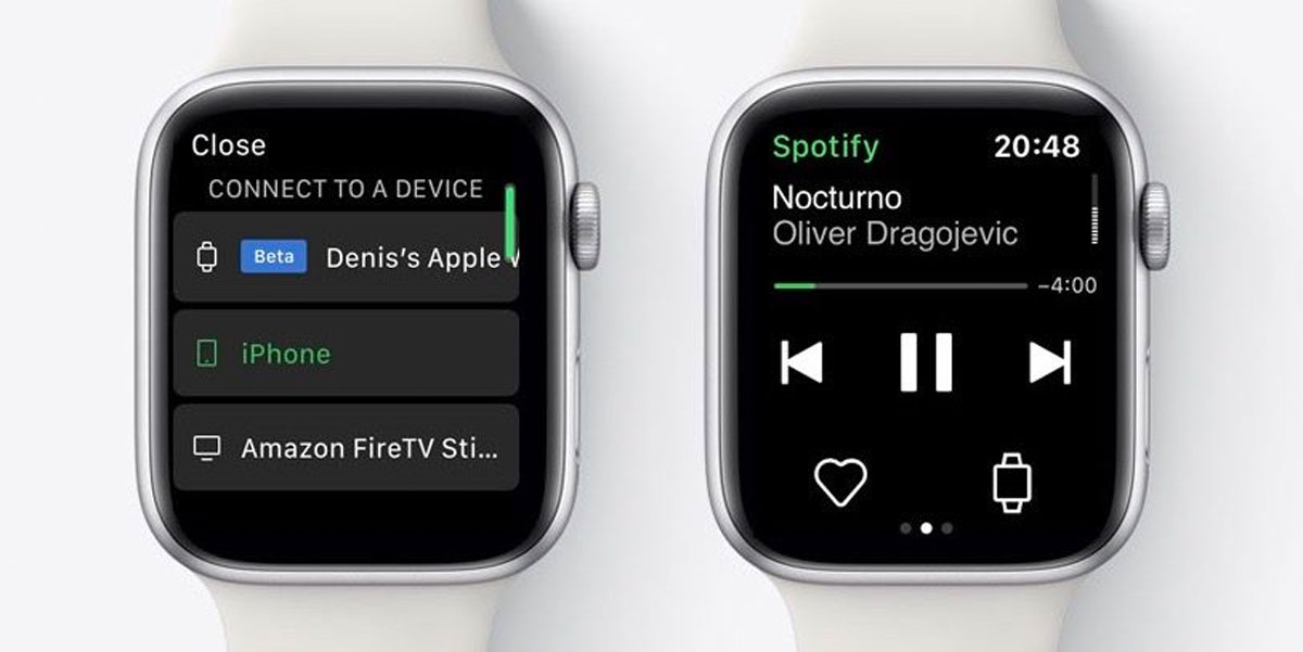 spotify apple watch streaming