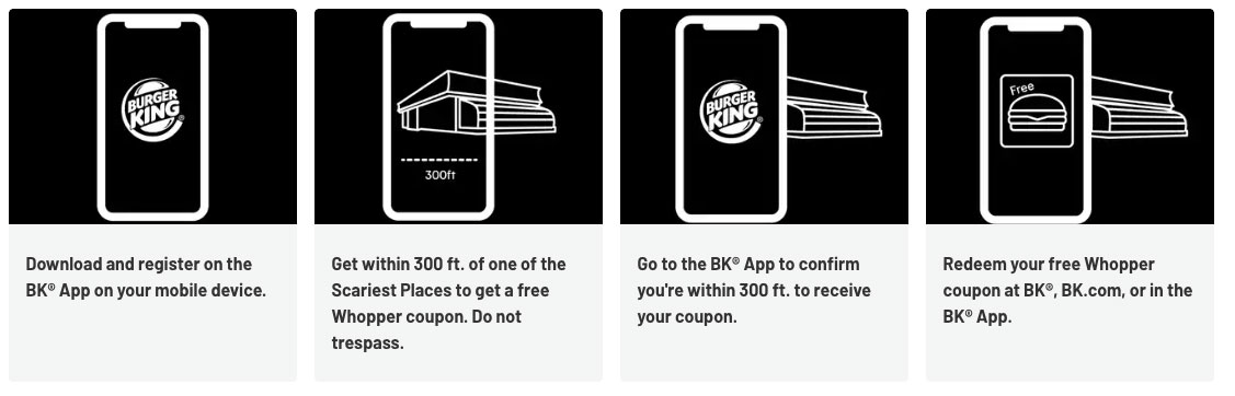 burger king scary places - BK app