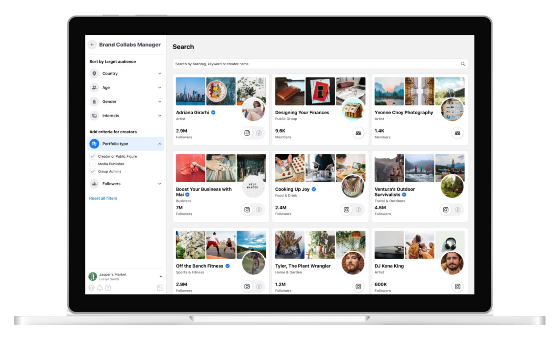 facebook brand collabs manager for public groups