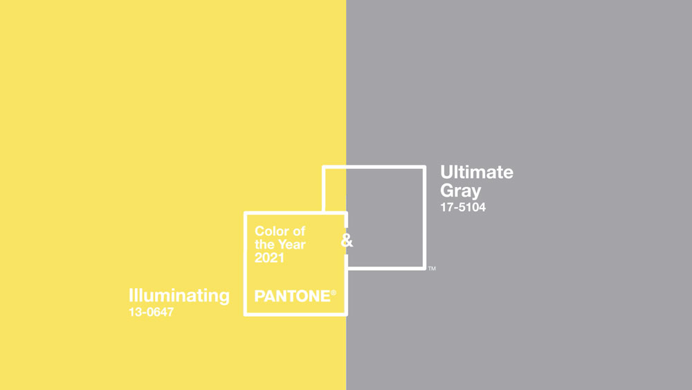 The Pantone Color Institute Announces Two Colors Of The Year For 2021 - 13-0647 Illuminating and 17-5104 Ultimate Gray