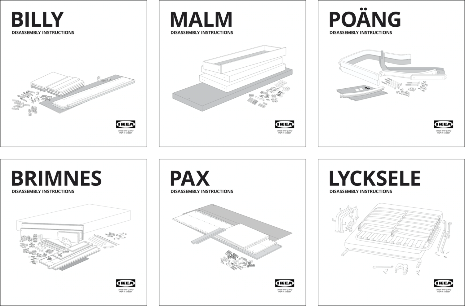 IKEA disassembly guides