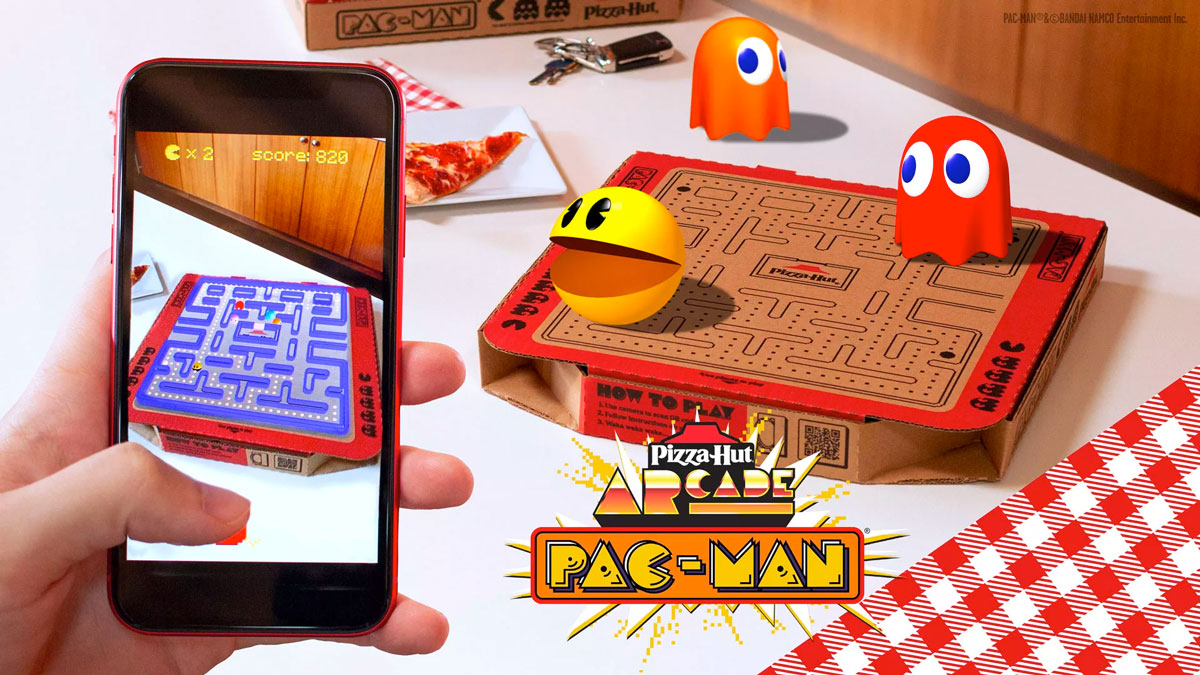 Pizza Hut pac man AR