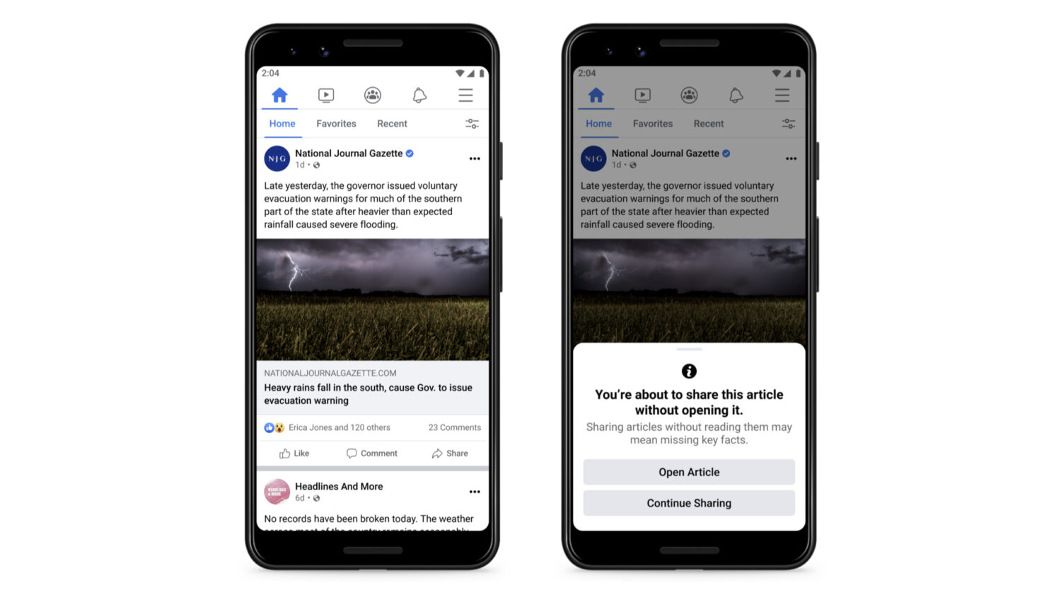 facebook read before you share preview